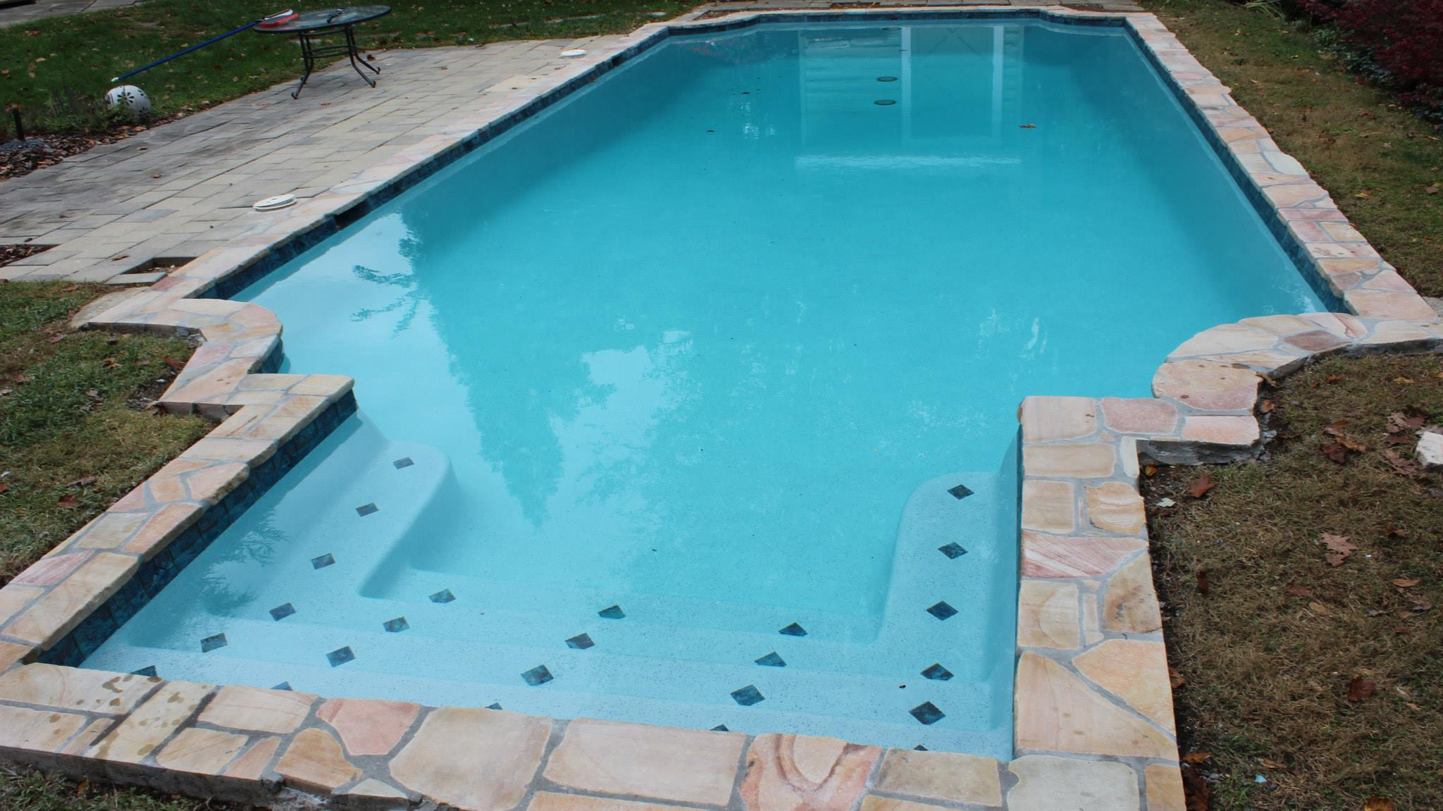 Hydrazzo pool plaster finish coronado 39 s pool renovations for Pool plaster