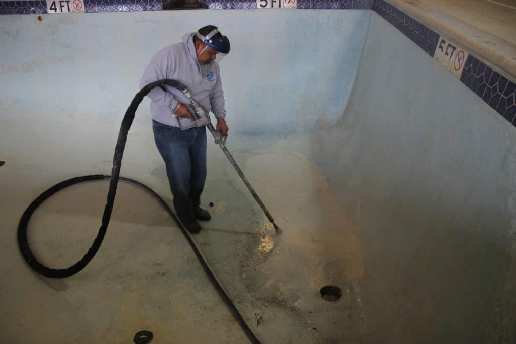 Waterblasting Process Coronado S Pool Renovations Inc