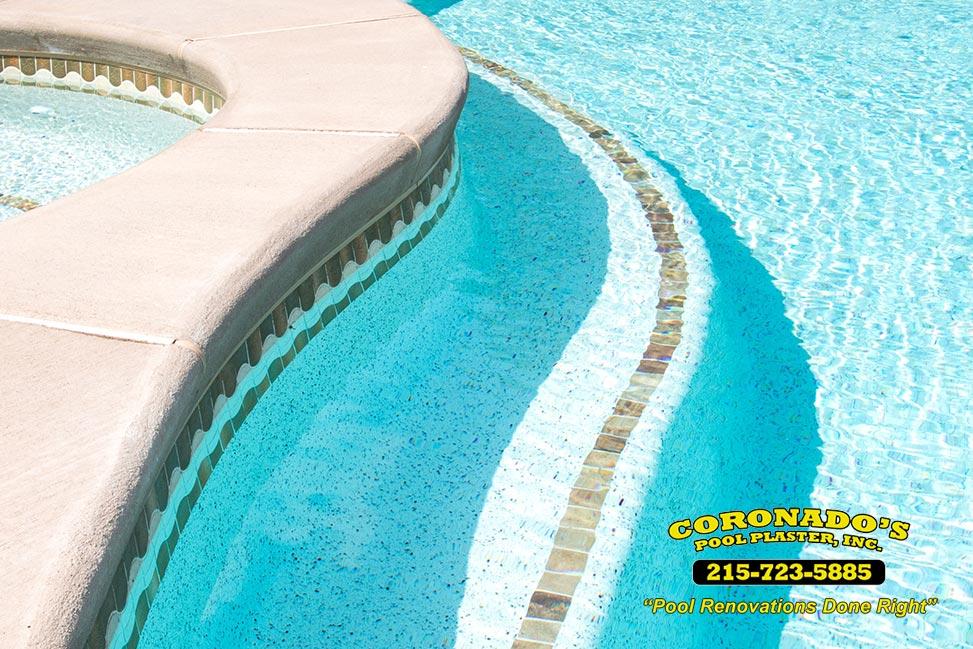 Honed Surface Bullnose Edge Beige Travertine Swimming Pool: Coronado's Pool Renovations, Inc