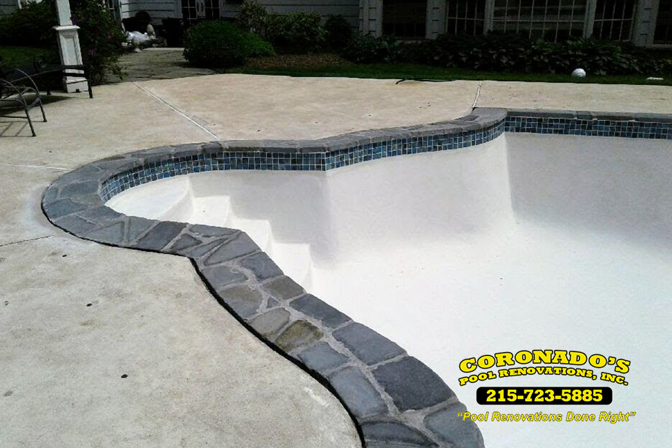 stone coping installation