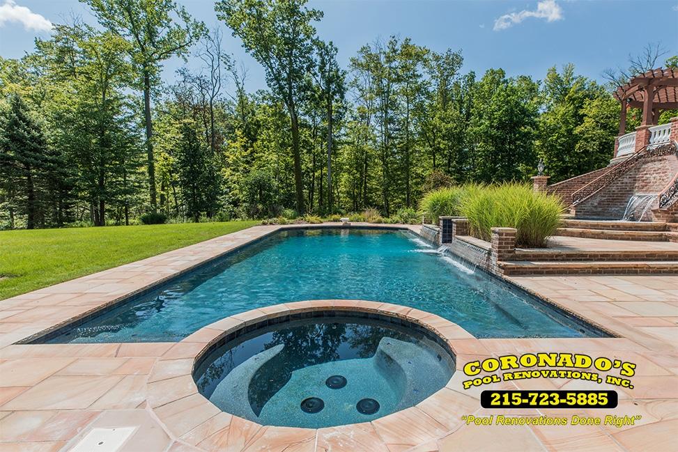 Resurfacing swimming pool options coronado 39 s pool for Swimming pool resurfacing