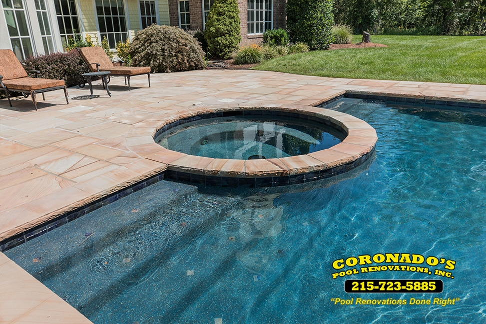 Stonescapes Midnight Blue Pebble Finish Resurfacing Swimming Pool Renovations