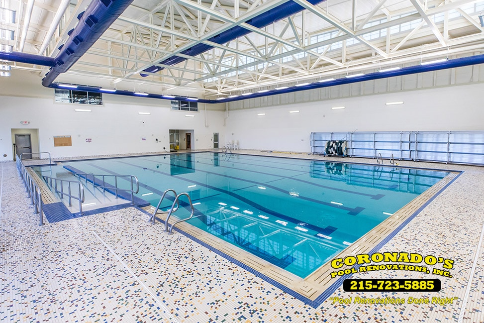 Commercial swimming pool tile & coping
